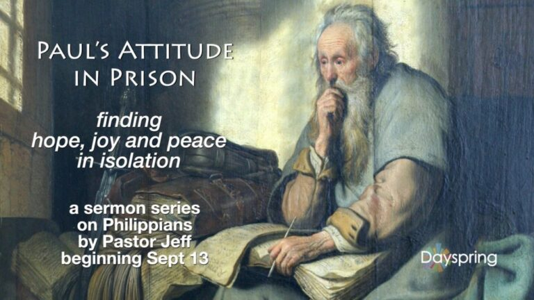 Paul's Attitude in Prison